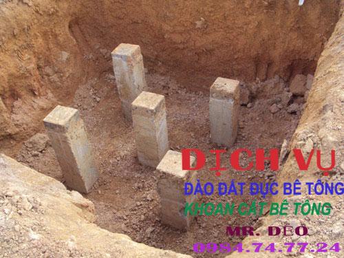 đào hố móng